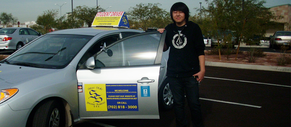 Photo of student driver taken private driving lessons.